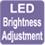 РЕГУЛИРОВКА ЯРКОСТИ ДИСПЛЕЯ. Яркость светодиодного дисплея внутреннего блока можно отрегулировать в соответствии с индивидуальными предпочтениями пользователя.