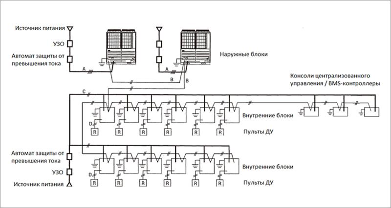 Пример схемы электрического